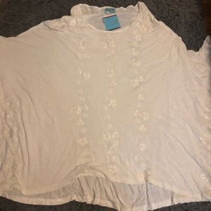NWT Letarte swim coverup white embroidered s